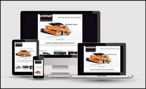 Miernik Designs website in responsive design