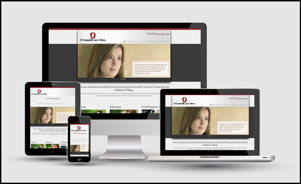 O'Connell Law Firm Responsive Design
