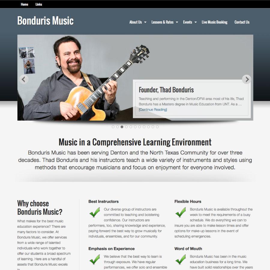 Bonduris Music Website