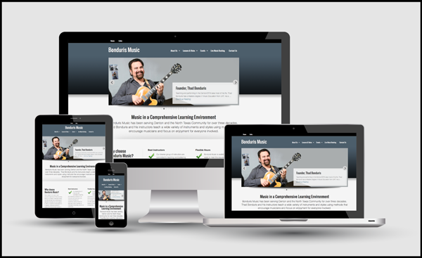 Responsive web design for Bonduris Music