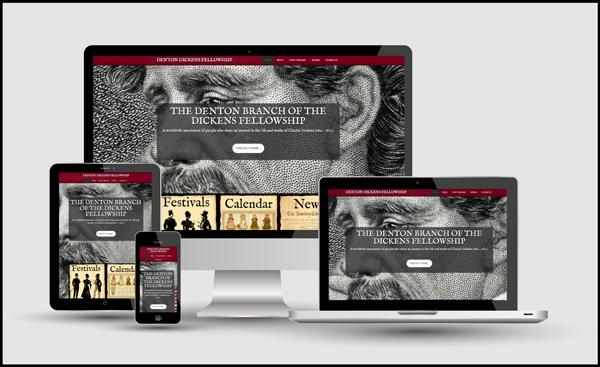 Responsive Design for the Denton Dickens Fellowship