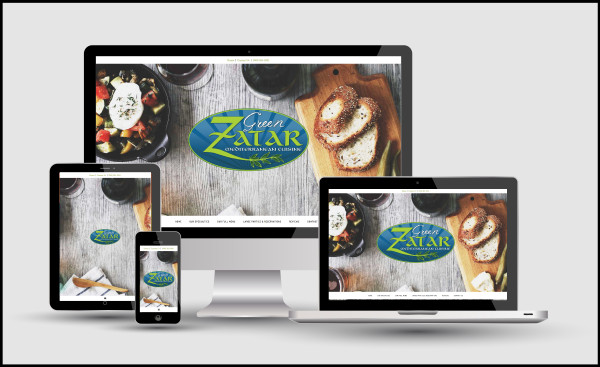 Responsive Web Design for Green Zatar of Denton
