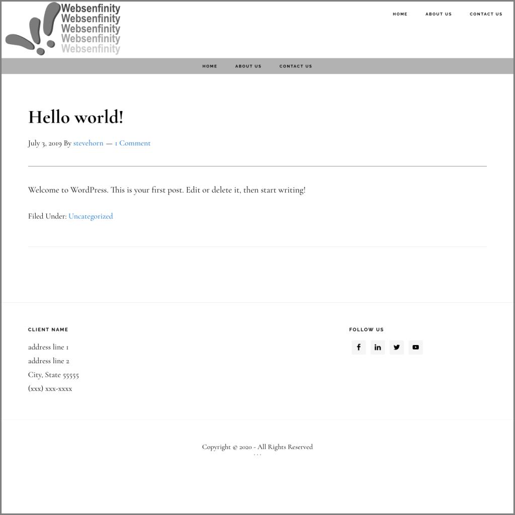 Websenfinity Theme screenshot - basic