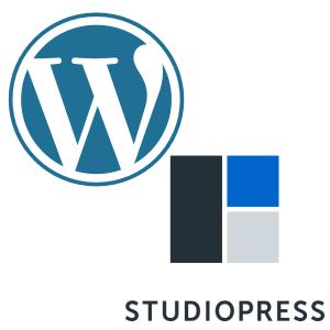 WordPress and StudioPress logos